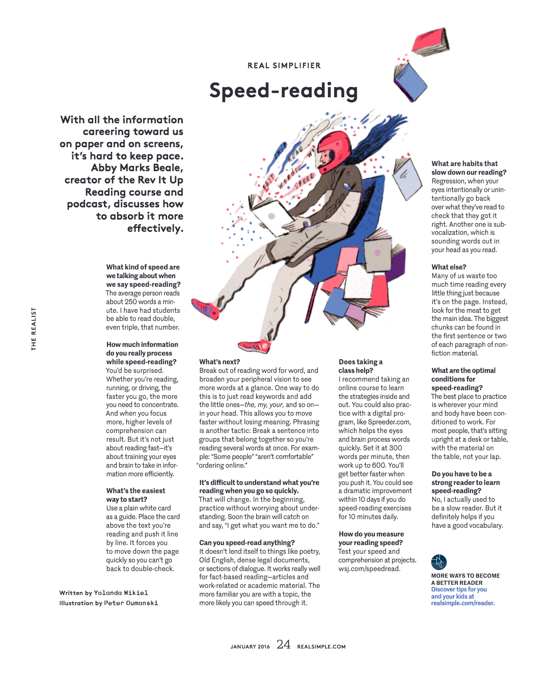 Real Simple Speed Reading Interview | Rev It Up Reading